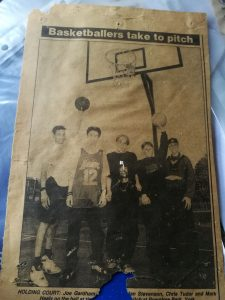 basketball in rowntree park 1995