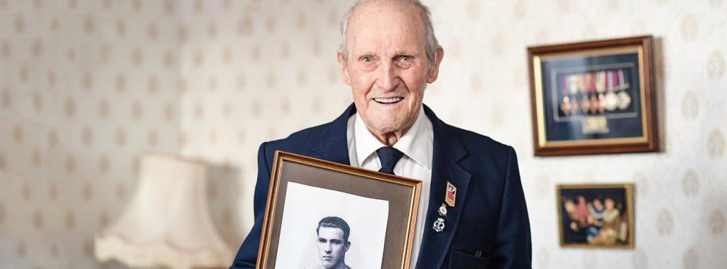 Veteran holding image Social Vision York