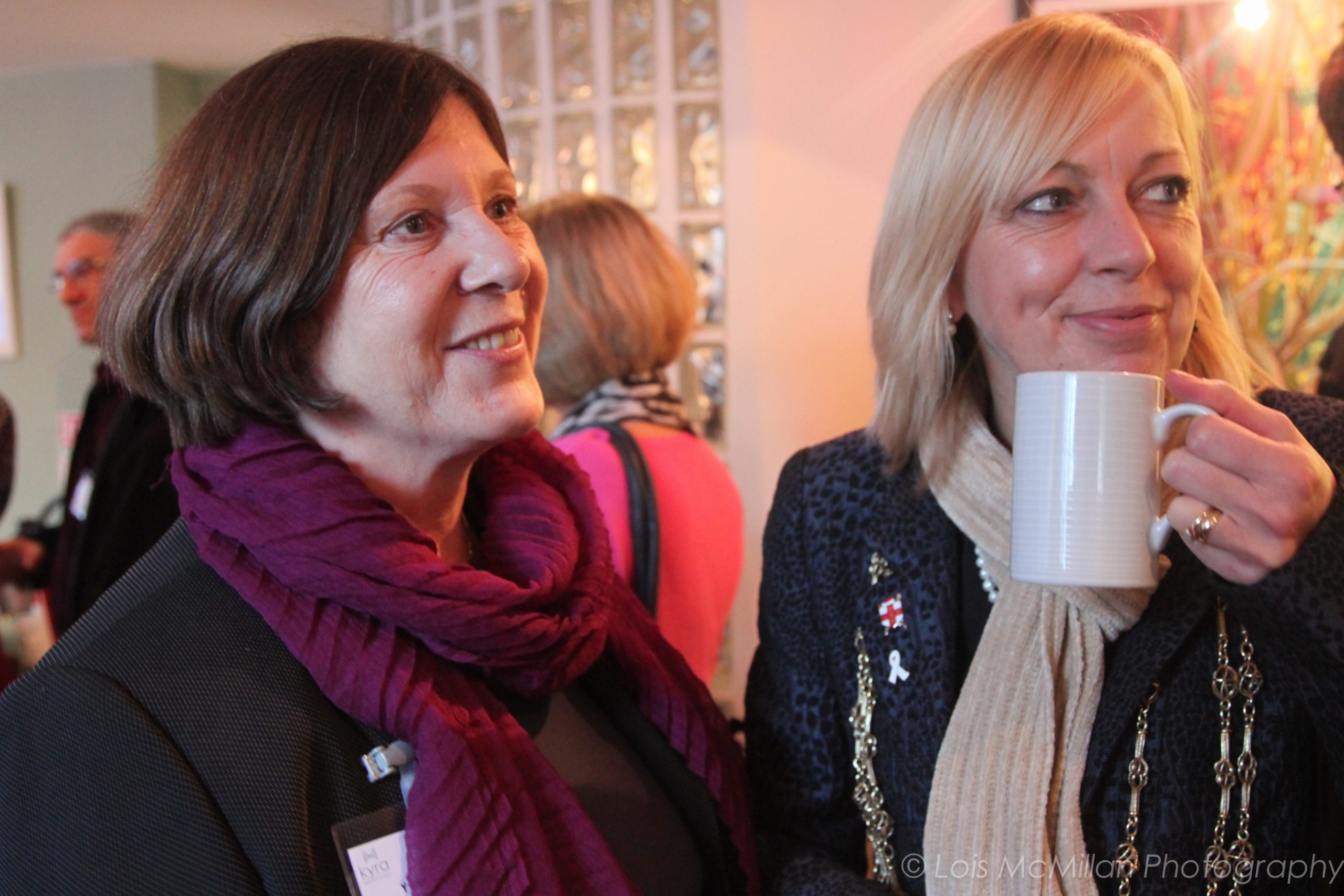 Yvonne (left) pictured with former Lord Mayor of York, Julie Gunnell. (c) Lois McMillan Photography / Kyra