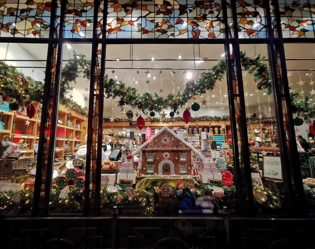 Bettys Christmas Display Window York Gingerbread House
