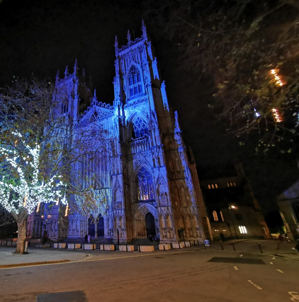 York Minster with Christmas Lights